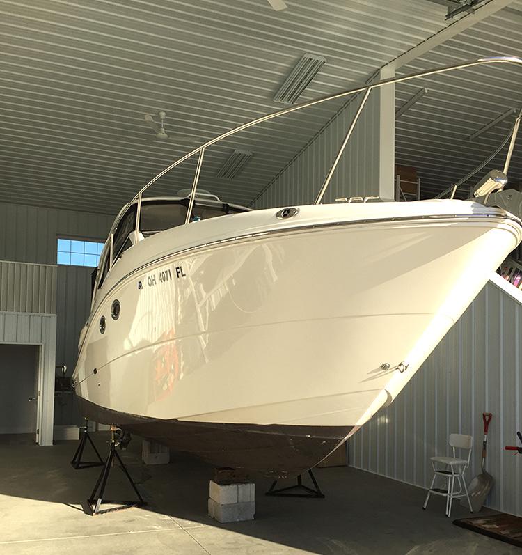 large boat interior storage