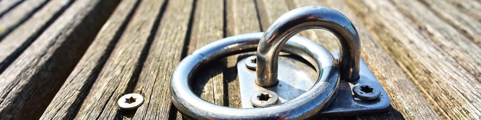 Bolt lock on dock